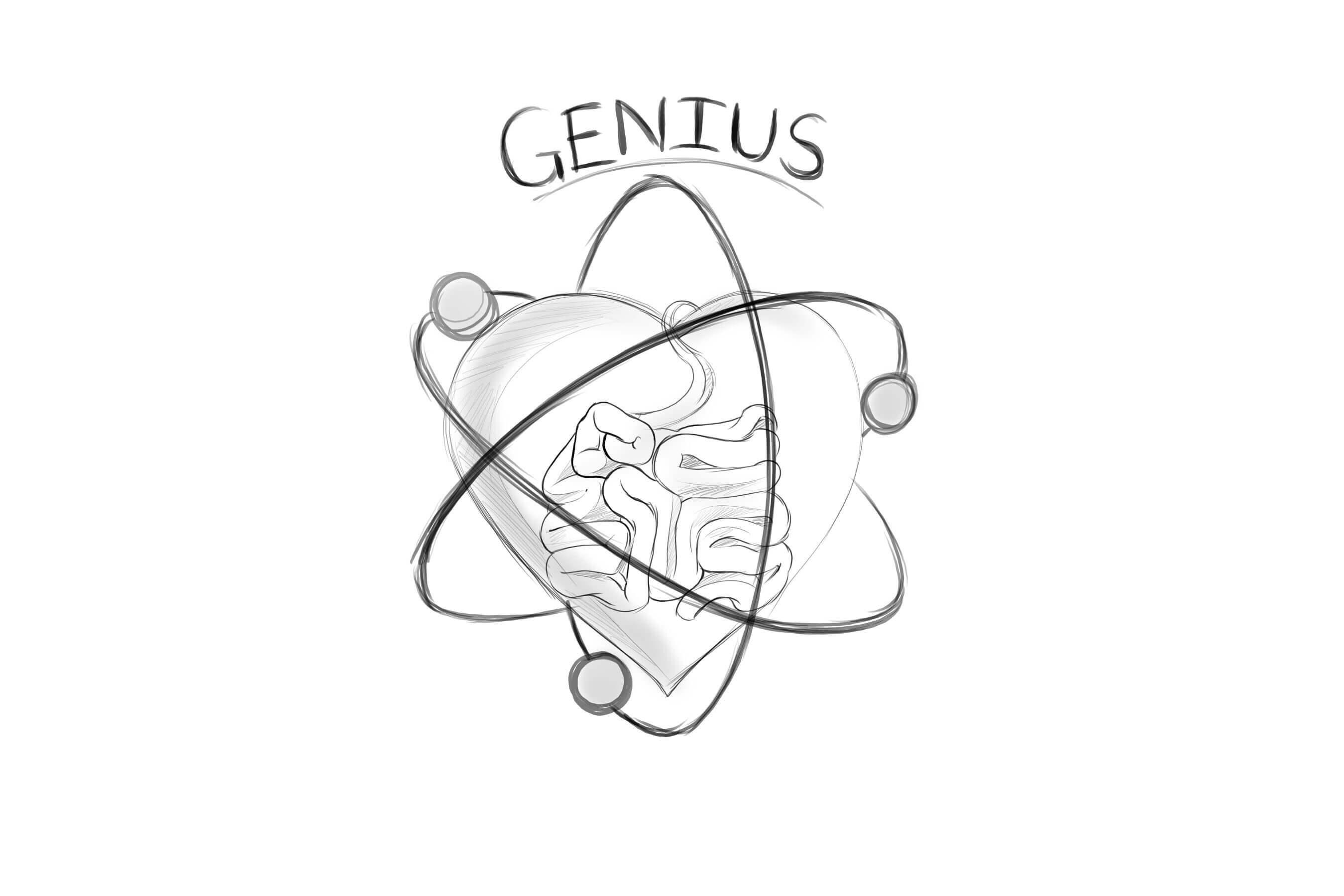 "HEART AND GUT ""GENIUS"""